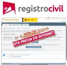 Servicio de Cita Previa del Registro Civil