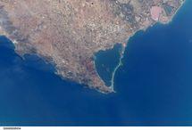 Vista por satélite del Mar Menor. Wikipedia