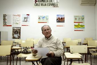 José Antonio Fernández, en la sede de la Cruz Roja en Cieza (Murcia)