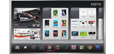 Modelo de smart TV de LG con Google TV.. Google se apoya en Sony, LG, Samsung y Lenovo para liderar la televisión web