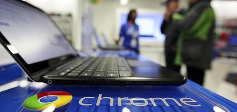 Modelo de Chromebook de Samsung Electronics. Solo esta compañía y Acer han lanzado estas máquinas al mercado. - BLOOMBERG