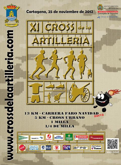 cartel anunciador de la XI Edición CROSS DE LA ARTILLERIA