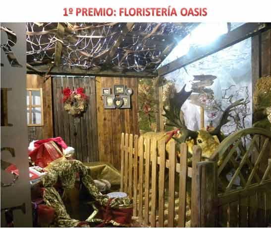 Floristería Oasis gana el II Concurso Navideño de Escaparates