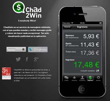 Chad2Win, el 'Whatsapp' español que te paga por chatear