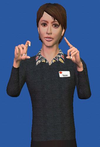 Personaje virtual traduce la voz a la lengua de signos