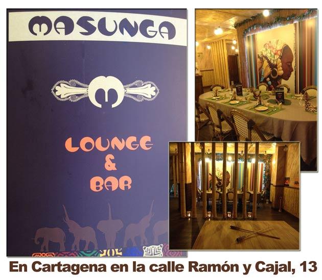 M A S U N G A !!!!!  Estamos en Cartagena en la calle Ramón y Cajal, 13.
