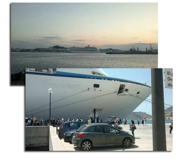 La terminal de ¡Abrir temprano que a las 8:30 seguro están paseando por Cartagena¡del puerto de Cartagena se quedará mañana miércoles