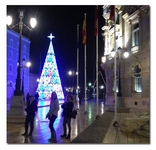 Luces navideñas en Cartagena