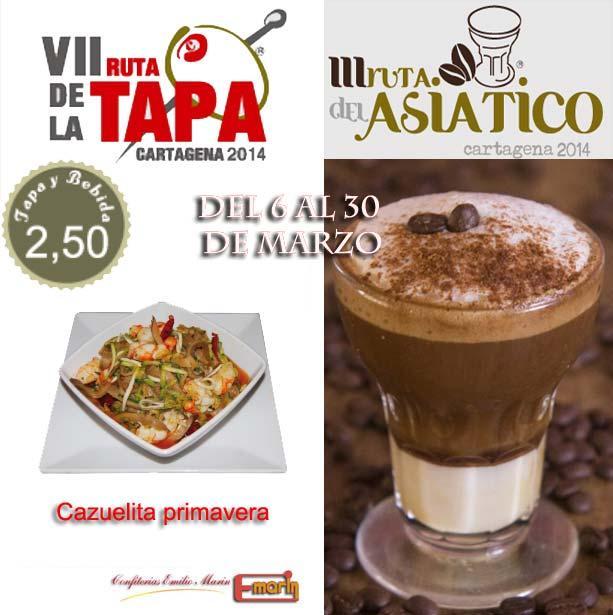 VII Ruta de la Tapa y III Ruta del Asiático de Cartagena en Confiterías Emilio Marin
