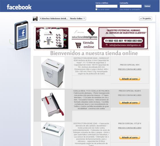 Tienda Online Soluciones Inteligentes en FACEBOOK