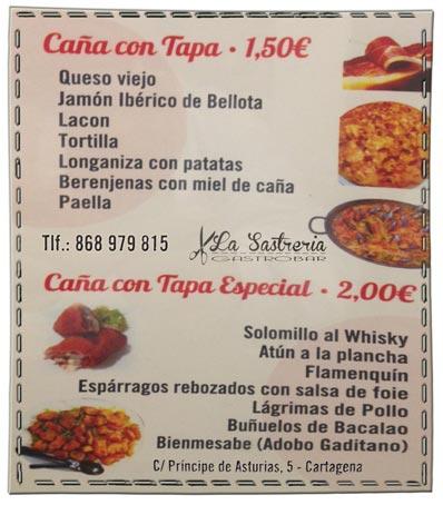 La Sastreria GastroBar, en Cartagena