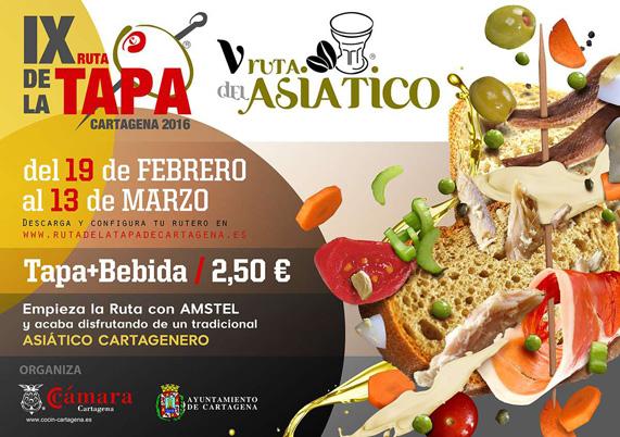 IX Ruta de la Tapa y V Ruta del Asiático de Cartagena